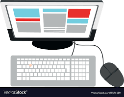 computer desk top view. Simple Computer Desk Computer Topview Icon Vector Image Intended Computer Top View VectorStock