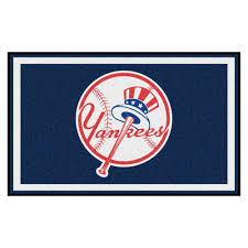 new york yankees area rug 4 x 6 nylon