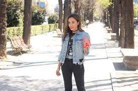 Light Blue Fitted Denim Jacket How To Wear A Jean Jacket With Any Outfit Real Simple