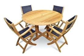 dining table with 4 chairs and a bench teak patio set round navy mesh folding