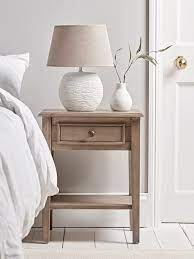 camille bedside table limewashed