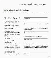 Direct Deposit Sheet 29 Best Intuit Quickbooks Payroll Direct Deposit Form Simple Best