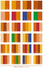 Orange tone color combinations