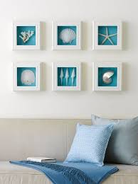 shells white shadow box frames brilliant blue background beach inspired wall art on shadow box wall art sydney with shells white shadow box frames brilliant blue background beach