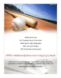 Baseball Flyer Template Microsoft Word Templates