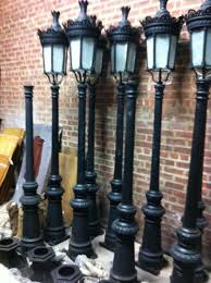 single light victorian cast iron outdoor street lamp hsl65 antique courtyard outdoor lighting 1