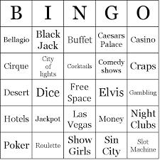Wedding Bingo Words Las Vegas Bingo Cards