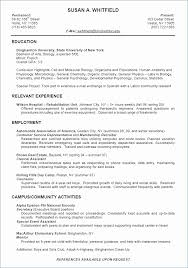 Sample Recent College Graduate Resume Resume Template Recent