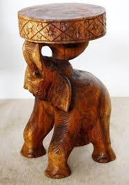 chang elephant stool or stand natural solid wood furniture added as a new offering in 2016