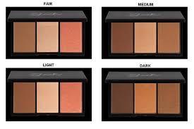 sleek face form contour kit in light fair um and dark