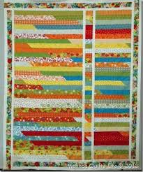 294 best Quilts using Jelly rolls images on Pinterest | Tutorials ... & Robin's Jelly Roll Quilt~~~She had a jelly roll race quilt and decided Adamdwight.com