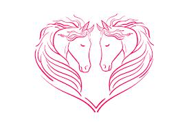 Heart Of Horses Svg Cut File By Creative Fabrica Crafts Creative Fabrica