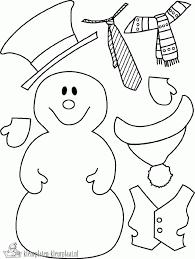 Sneeuwman Kleurplaat Simpel