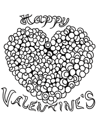 Happy Valentines Heart Coloring Page Free Printable Coloring Pages