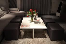 Table With Hidden Chairs Simple Nevertheless Clever Coffee Table Design And Style With