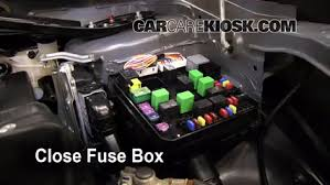 blown fuse check 2007 2013 mitsubishi outlander 2010 mitsubishi 6 replace cover secure the cover and test component