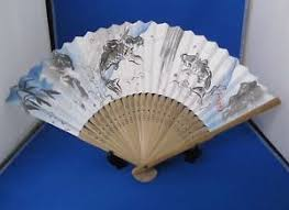 Japanese Fan Display Stand Folding Fan Japanese SENSU Carp Design Koi With Display Stand EBay 25