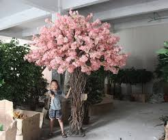 fake tree decor artificial cherry blossom tree without leaves for hotel decoration silk cherry blossom trees fake tree