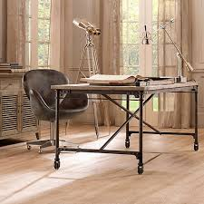 office table with wheels. Plain Wheels 2015 Modern Designer Office Desk Solid Wooden Table Vintage  Furniture Escritorio With Intended Wheels