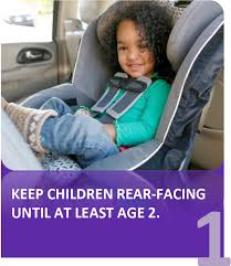 4 stages of car seat use for children