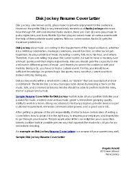 Club Dj Resume Template Professional Resume Templates