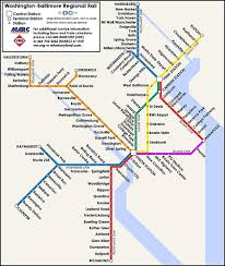md & va commuter rail look great together on one map greater Baltimore Transit Map proposed map of a washington baltimore regional rail system baltimore rapid transit map
