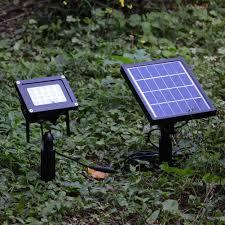 Zonne Energie Tuin Schijnwerper 7 Colors Led 20 Rgb 5050led Tuin Beveiliging Light Waterdicht Tuin Landschap Outdoor Panel Lamp