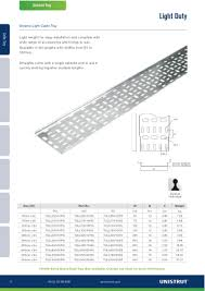 Cable Tray Weight Chart Unistrut Cable Management Metal Framing