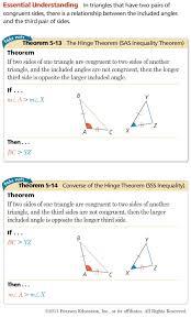 hinge theorem worksheet. lesson 5-7 hinge theorem worksheet