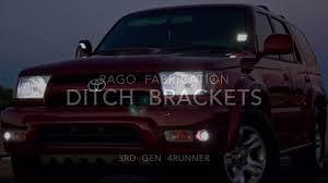 1st Gen Tacoma Ditch Lights 1995 2004 1st Gen Toyota Tacoma Ditch Light Brackets Stainless Steel