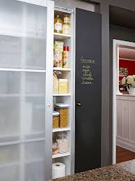 Make your pantry door a hardworking feature in the kitchen by covering it  with chalkboard and magnetic paint. Use the space as a family messaging  center or ...