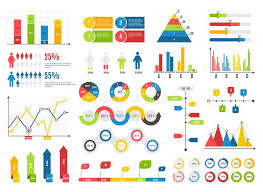 Infographics Chart Set Charts Result Graphs Icons