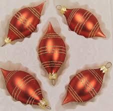 Feinster Christbaumschmuck Aus Glas Weihnachtskugeln Weihnachtsbaumschmuck Orange