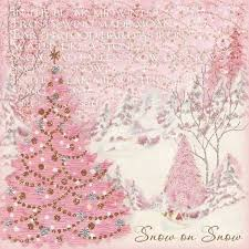Pink Christmas Card Snow On Snow Vintage Christmas Card Pictures Photos And Images For