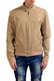 roberto cavalli class men s half knitted full zip light jacket