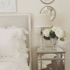 mirrored furniture room ideas. easy bedroom make over mirrored nightstand white roses bedding mercury glass furniture room ideas