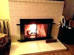 small fireplace doors glass pleasant hearth extra alpine