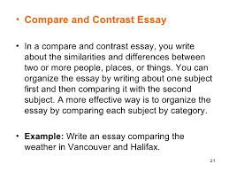 essay orgil  21 <ul><li>compare and contrast essay