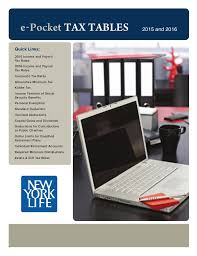 New York Life Pocket Tax Tables Guide 2015 16