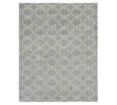 scroll tile rug porcelain blue