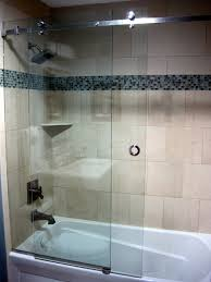 creative of frameless sliding shower doors tub and serenity frameless sliding shower door contemporary bathroom