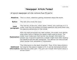 Newspaper Articles Template How To Write A Newspaper Article Template Best Business