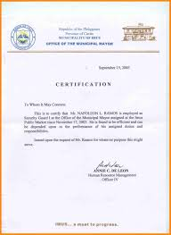 Example Of A Certificate Employment Ultramodern Concept Sample