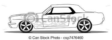 muscle cars drawings. Fine Cars Vintage Muscle Car With Flames Line Drawing Intended Muscle Cars Drawings