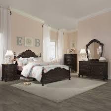 Queen Size Bedroom Suite Fairytale Victorian Dark Brown 5 Piece Queen Size Bedroom Set