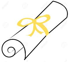rolled diploma clipart  diploma scroll clipart