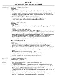 Technical Resume Sample Radio Technician Resume Samples Velvet Jobs 16