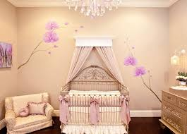 amazing baby girl room with rystal chandelier and cream floral wall art decoration on floral wall art nursery with amazing baby girl room with rystal chandelier and cream floral wall