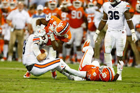 Defensive Auburn Ringer Line Sacked Submission The - Clemson's Into