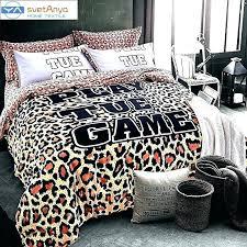 purple leopard print bedding sets pink